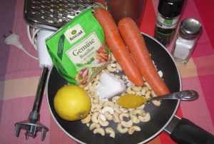 Cashew-Moehren-Brotaufstrich_Zutaten